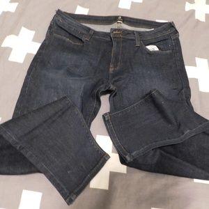 Gently worn dark, straight leg jean
